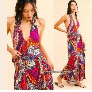 NWT ANTHROPOLOGIE Cynthia Halter Dress  Size XXSP